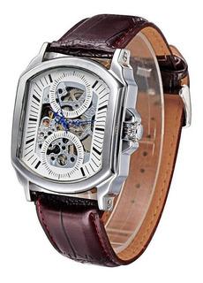 Reloj Winner Automático/cuerda Diseño Único Con Estuche