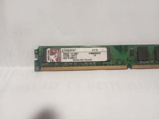 Memoria Ram Dimm Kingston Ddr2 2gb Pc2 800mhz Kvr800d2n5/2g