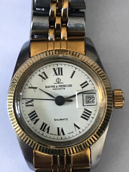 Relógio Baume & Mercier Baumatic, Aço E Ouro