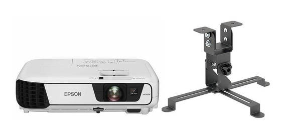 Projetor Epson S41+ 3300 Lumens Hdmi + Suporte Teto Ate 15kg