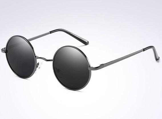 Óculos Sol Redondo Masculino Unisex Polarizado Proteção Uv