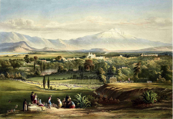 Lienzo Tela Arte Mexicano Vista Valle 1840 Daniel Egerton