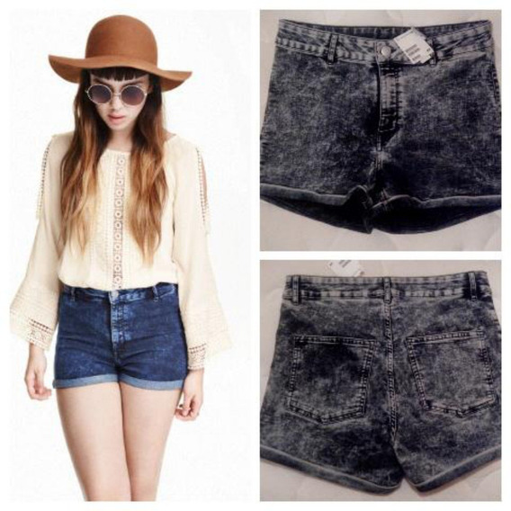 Short Jean H&m Mujer. Azul. Talle 40