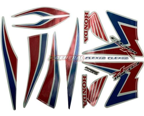 Kit Adesivo Jogo Faixas Moto Honda Cb 300r 2015 Branca