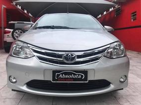 Toyota Etios Platinium 2015 Prata Flex