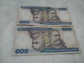 Cédulas Antigas 500 Cruzeiros - Notas Antigas - Cédula 500