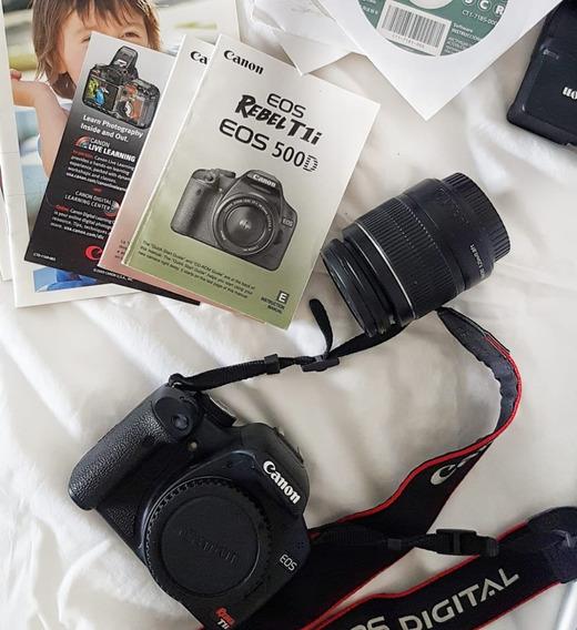 Kit Canon Rebel T1i C/ Lente 18-55mm + Disparador E Tripé