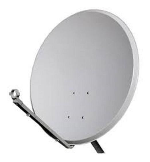 Kit 2 Antenas Chapa Parabolica 60cm Ku Universal