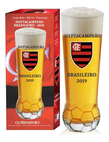 Copo Flamengo Campeão 2019 Vidro 400ml