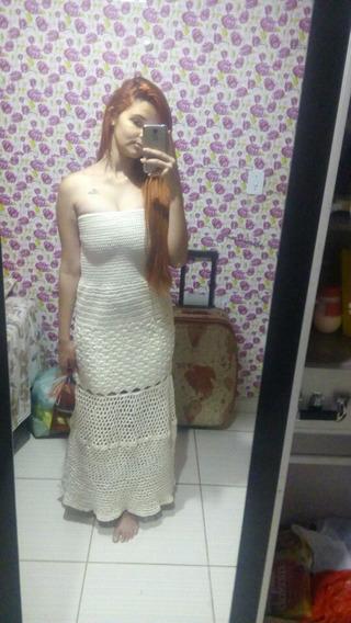 Vestido Em Croche Feito A Mão. Modelo Sereia