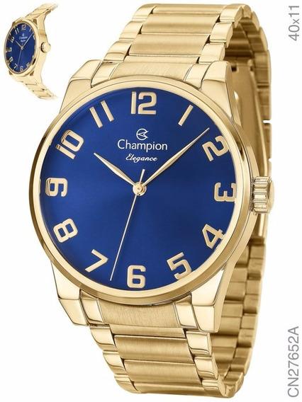 Relógio Champion Elegance Dourado Cn27652a Nota Fiscal