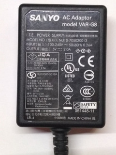 Adaptador Y Cable Sanyo Modelo Var-g8 Compatible