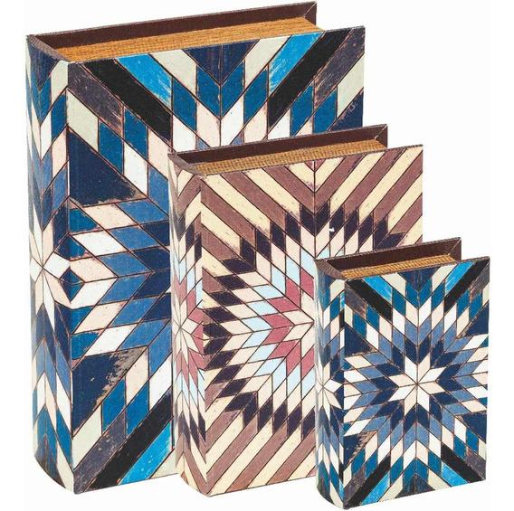 Kit Livro Caixa 3 Peças Mart7825