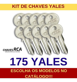 Kit De 175 Chaves Yales Virgens Para Cópia - Rca