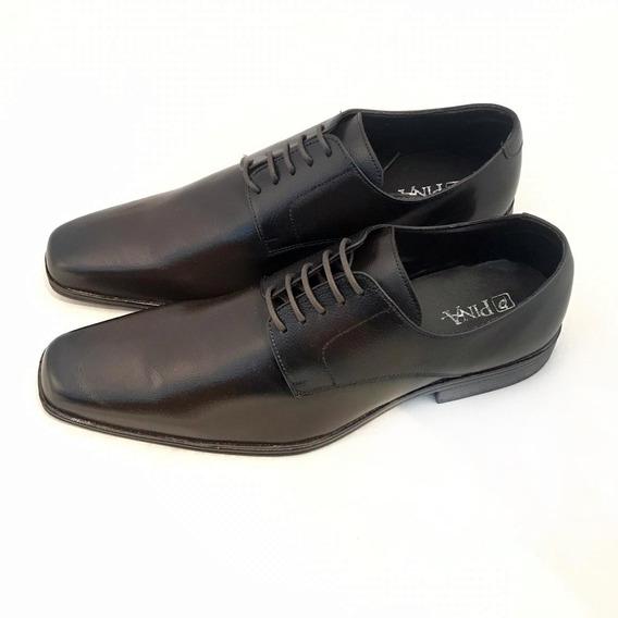 Sapato Masculino Estilo Europeu Italiano Marrom