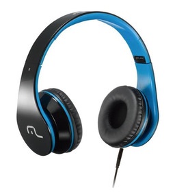 Headphone Com Microfone Para Celular Azul Multilaser Ph113