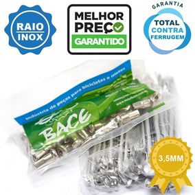 Raios Inox Bace Nxr Bros 125 150 160 Aro Diante E Tras 3,5mm