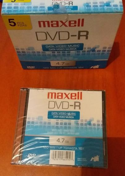 Dvd Virgen Maxell Pack De 5 Und Y Mini Dvd R - Rw