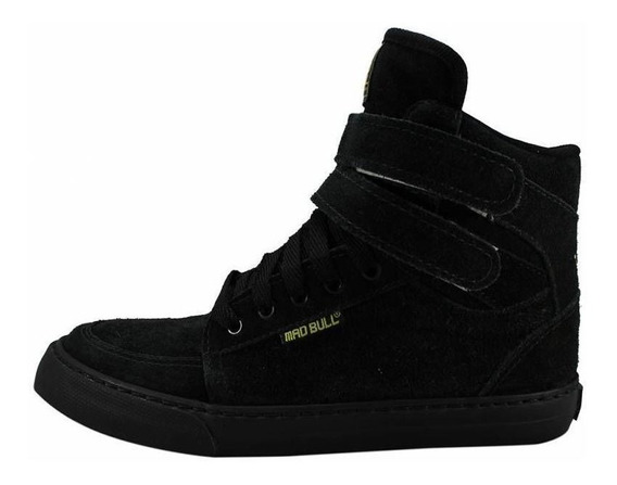 Tênis Sneakers Mad Bull Staff Preto Total Original Promoção