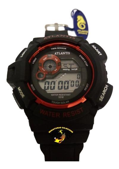 Relógio Masculino Esportivo Atlantis G7396 Vermelho