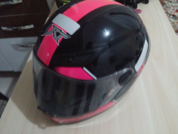 Capacete Race Tech 501 Love Preto E Rosa Pink