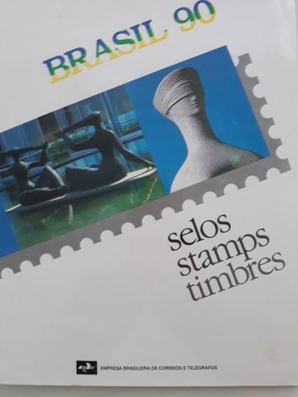 Coleção Completa De 1990 Emitida Pelo Correios.