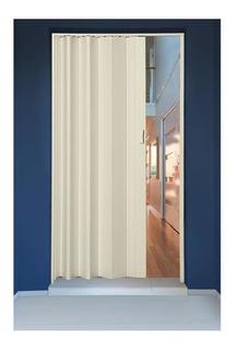 Porta Sanfonada Em Pvc 210x72cm Bege