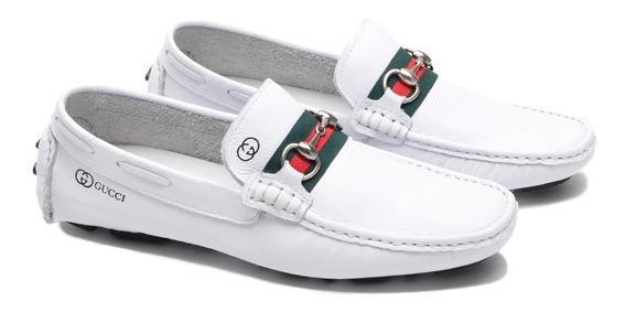 Mocassim Sapato Drive Gucci Masculino Casual Couro Aproveite
