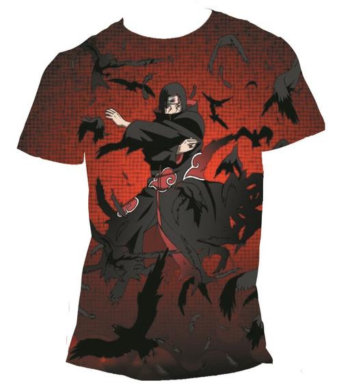 Camisa Itachi Uchiha Camiseta Naruto Anime - Estampa Total