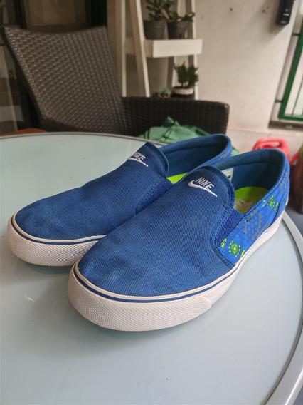 Zapatillas Panchas Nike Azules Número 40