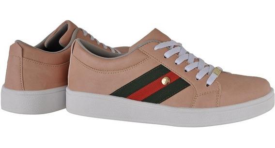 Tenis Casual Inspiraçao Gucci Feminino Sapato Crshoes 4030