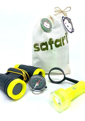 Imagem 1 de 6 de Kit Safari Explorador  Aventura Ecobag Binóculo Lanterna