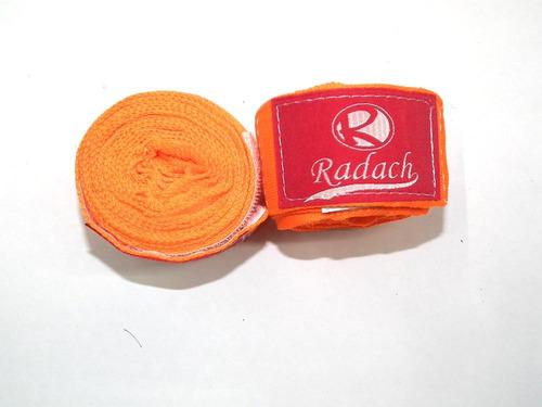 Imagen 1 de 1 de Vendas De Entrenamiento Box Marciales En Tela Color Naranja