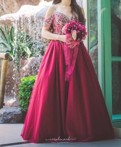 Vestido De Xv Años Guinda Tinto