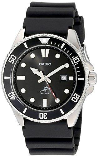 Reloj Analogo Bisel Anverso Negro De Casio Para Hombre