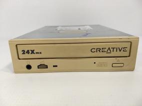 Antigo Drive Cd-rom Creative 24x Cr-587-b 1998 Retro Pc Raro