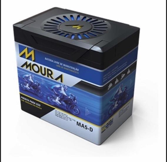 Bateria Agm Moto Moura 12v-5ah Honda 125/150 Biz/fan/cg/bros