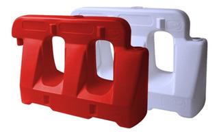 Barreras New Jersey/camineras 1,2mts. Rojo/blanco. Pyd