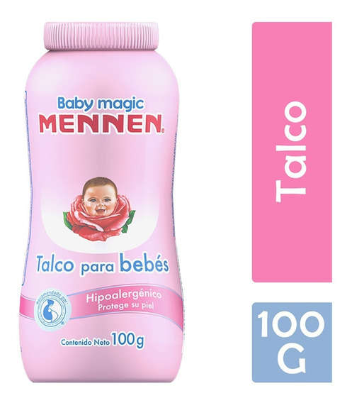 Mennen Baby Magic Talco, 100 G, Rosa