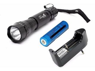 Lanterna Ultrafire 501b Luz Branca 1 Modo Carregador Bateria