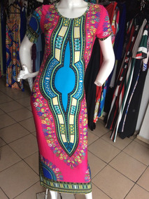 Elegante Vestido Largo Pegado Manga Geometrico Casual