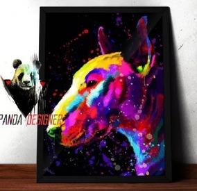 Quadro Decorativo 50x70 Bull Terrier Completo