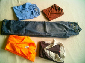 Lote De Camisas E Calça Jeans.
