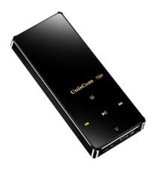 Mp3 Player Uniscom 4gb Bluetooth Touch Screen Frete Grátis