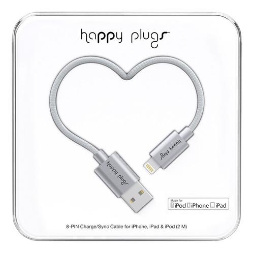 Imagen 1 de 7 de Cable Lightning Happy Plugs Para iPhone Y iPad Colores