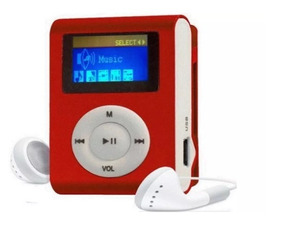 Mini Mp3 Player Tela Lcd + Shuflle Clip Entrada Micro Sd