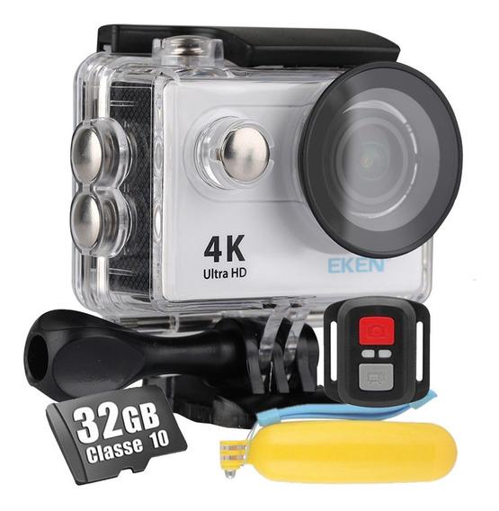 Câmera Eken H9r 4k Sport Original + 32gb + Bastão Flutuante