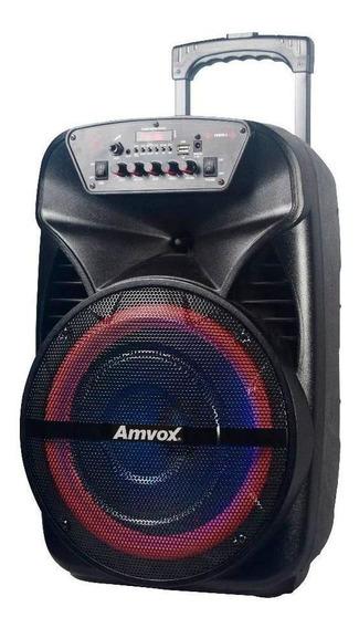 Caixa de som Amvox ACA 280 Black portátil sem fio Preto 110V/220V
