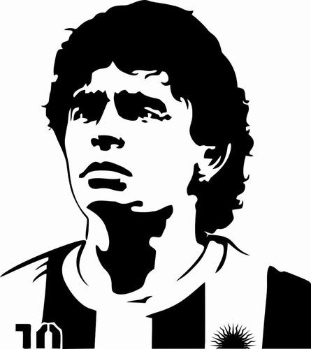 Vinilo Decorativo Maradona 58 X 70 Cm