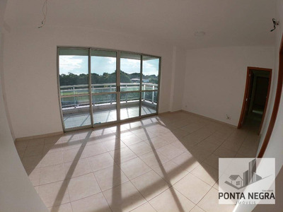 Gran Vista, 117m2, Apto De 4 Qts E Varanda Gourmet, Ponta Negra - Ap0524